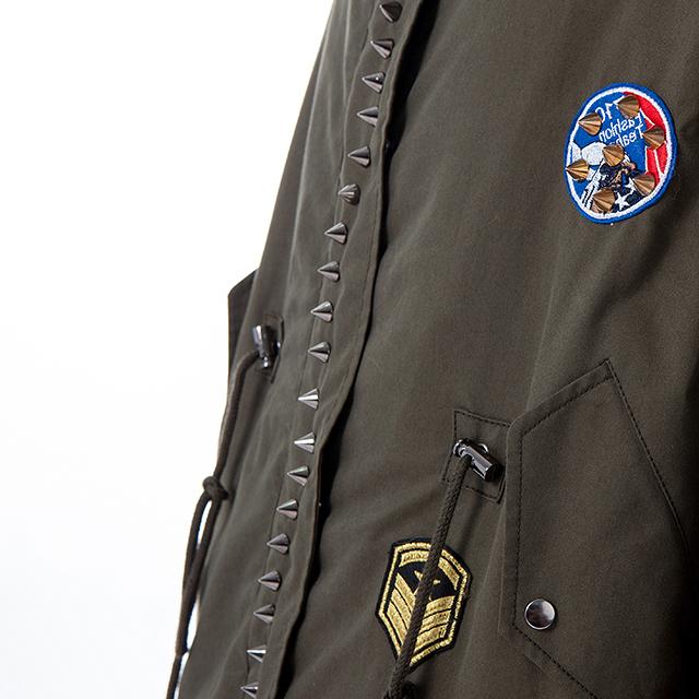 Fashionable fur Parker coat