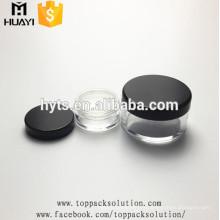 emballage de poudre libre avec bouchon à vis noir
