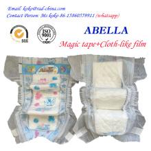 Magic Tape Cloth Like Film China Hot Produto descartável Sleepy bebê fralda com boa qualidade