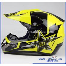 SCL-2016040190 Casco de moto Off Road RockStar Dirt Bike Casco Motocross Motocicleta Casco Cascos de moto personalizados