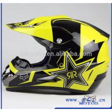 SCL-2016040190 Casque de moto Off Road RockStar Dirt Bike Casco Motocross Casque Motocicleta personnalisé Casques de moto