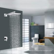Simple mélangeur de douche thermostatique caché douche contemporaine avec pomme de douche carrée usine OEM