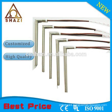 Right angle flexible leads cartridge heaters