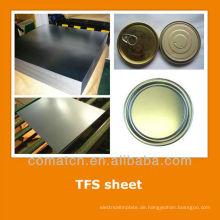 EN10202 standard Tin kostenlos aus Stahlblech für Lebensmittel kann zu beenden