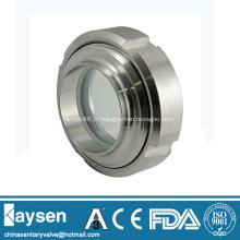 União de vidro sanitário tipo união SS304 de aço inoxidável