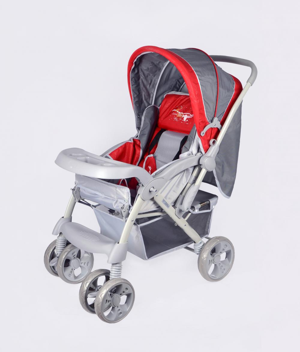 Canopy with Skylight and Mosquito Net Baby Stroller