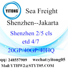 Jakarta için Shenzhen deniz taşımacılığı