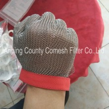 Safety Stainless Steel Ring Metal Mesh Glove