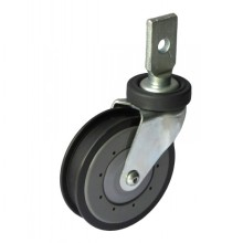 "5"" Splinting Type Rigid Shopping Cart Caster (gray, one groove)"