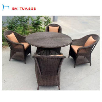 4 PCS Seater Set Jardim Cadeira De Jantar e Mesa (CF1271A)