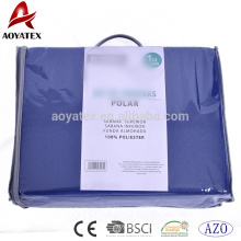 2018 Solid color cheap polar fleece fitted sheet set,high quality bed sheet set