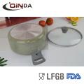 Marmorbeschichtung 6-teiliges Kochgeschirr mit Silikongriff