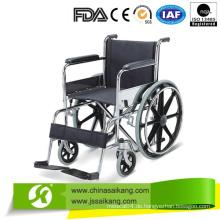 Professioneller Service Standard Größe Rollstuhl mit fester Fußstütze