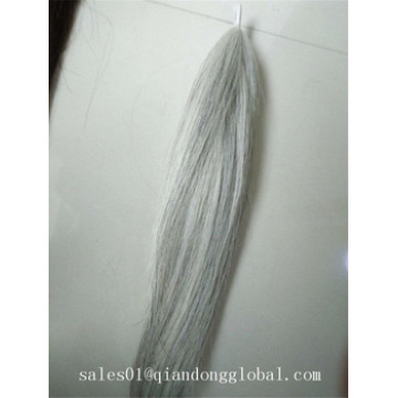 90cm Natural White False Horse Tail Hair