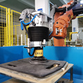 Auto parts grinding polishing sanding active contact flange