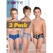 Miorre OEM Venta al por mayor Moda infantil 2017 Kid's Modal / Algodón Boy Boxer Brief 3 Pack