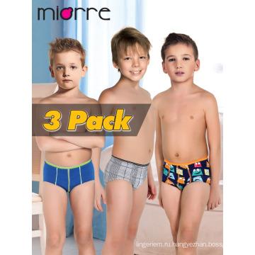 Miorre OEM Оптовая новая мода 2017 детское нижнее белье модальные/хлопок мальчик трусы-боксеры, 3 шт. в упаковке