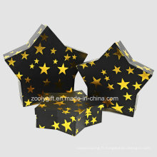Vente en gros Rigid Paper Board en forme d'étoile Boîtes à emballage cadeau