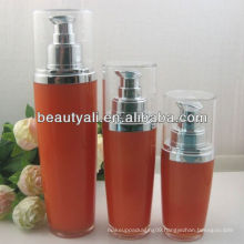 Oval Empty Acrylic Lotion Bottles With Spray Pump