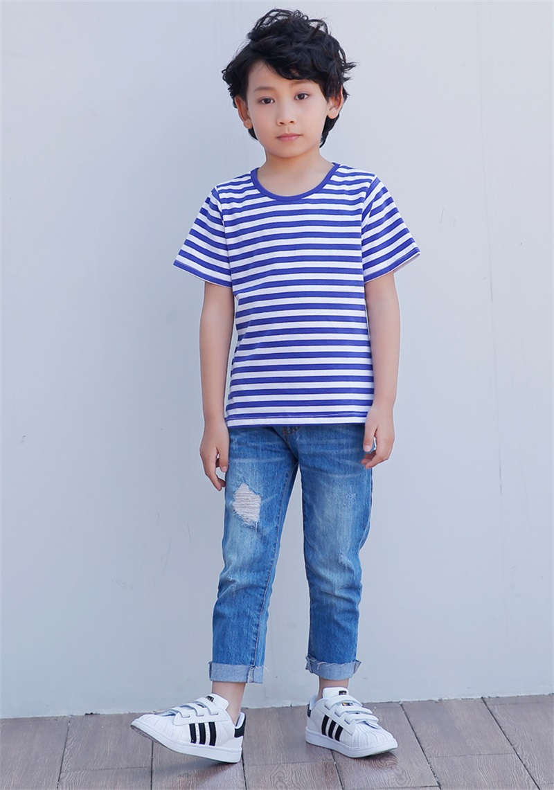 Blue white striped shirt