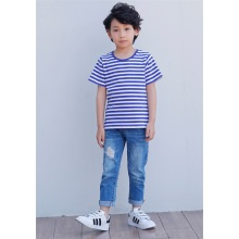 2018 new family striped T-shirt