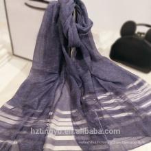 Mode en gros laine femmes violet personnalisé foulard en soie impression foulard en soie châle