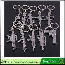 Good Quality Cheap Metal Toy Gun Keychain