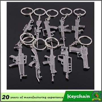 De Bonne Qualité Keychain bon marché de pistolet de jouet en métal
