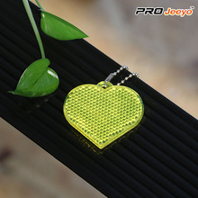 Reflective Hi Vis Acrylic Heart Security Keychain