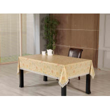PVC Embossed Tablecloth with Flannel Backing (TJG0056)