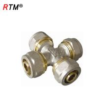 B17 haute qualité 4 raccords de tuyauterie en laiton raccord de compression en laiton fileté