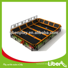 Amusement park Trampoline with foam pit and dodge ball, professional gymnastic commercial trampoline for sale (LE.BC.054)