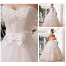 Cheap 2014 Ball Gown Robes de mariée Sweetheart perles de longueur de sol Sequins Lace-up Tulle Robe de mariée NB068