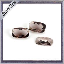 Vente en gros bas prix café couleur claire perles de verre cristallin