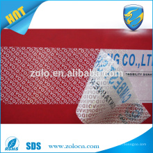 wholesale market tamper evident security seal tape on tamper proof labels