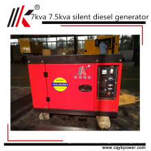 China fornecedor portátil silencioso mini gerador diesel 7 kva 7.5 kw gerador preço