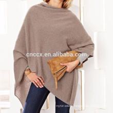 15PKCSP07 Lady fall winter fashion light 100% cashmere wool poncho sweater