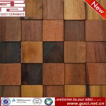 azulejo de piso de madera mejor vendido del mosaico de la pared del fondo de la TV del piso