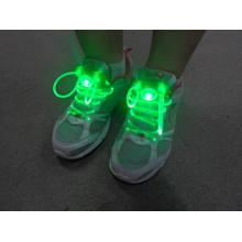 Punta de metal termina 100% algodón plana personalizado con capucha cadenas de zapatos