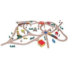 145pcs train de train en bois jouant ensemble jouet