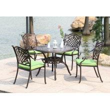 Mobília de pátio exterior moderna cadeira de alumínio fundido (SZ214; SD510)