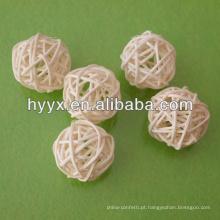Bola de vime de tecelagem colorida artesanal barata