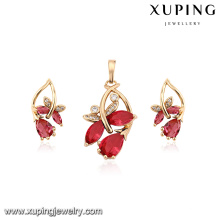 64180 fashion jewelry sets 18k gold plated stone necklace and earrings jewelry set women sets
