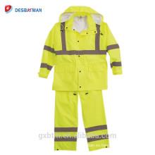 Impermeable impermeable del precio 100% impermeable con capucha, trabajo nocturno