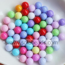 Warm 14mm Acrylic Round Pony Beads
