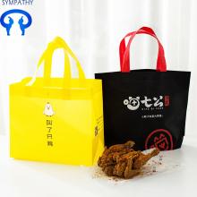 Custom green non-woven bag carrier bag
