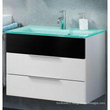 2013 High Gloss 60cm Size Wall Mounted MDF Glass Basin Bath Furniture
