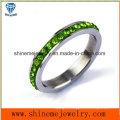Shineme ювелирные изделия цветного камня кольцо из нержавеющей стали палец (CZR2574)