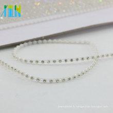 GBA024 Bridal Jeweled par la garniture de strass d'or de la cour