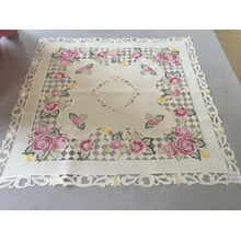 Handmade Cutwork Machinery Embroidery Table Cover Easter Day 2016